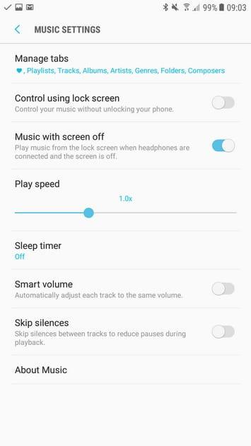 Samsung Music Galaxy S8 4