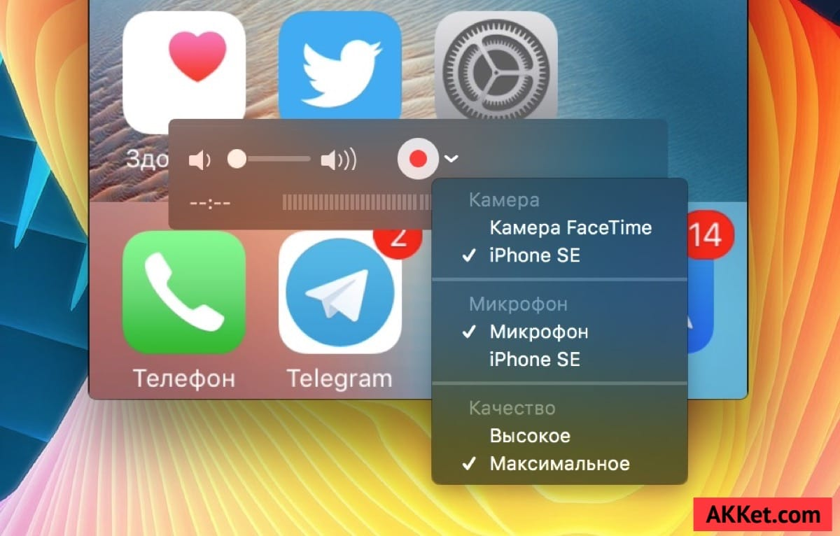 Screen Record iOS 10 iOS 11 Guide Russia 3