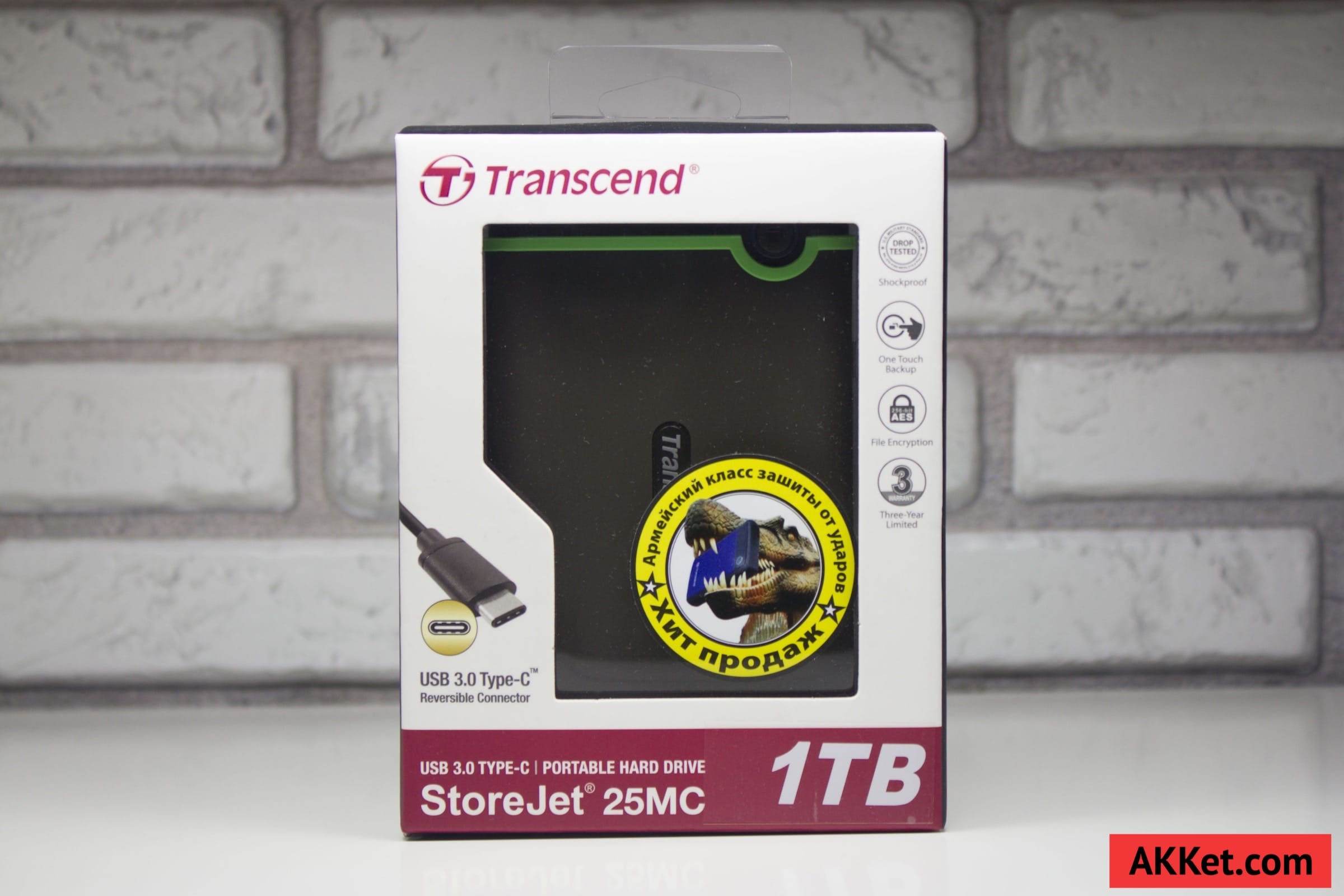 Transcend StoreJet 25MC (TS1TSJ25MC) USB Type-C Review Russia 1