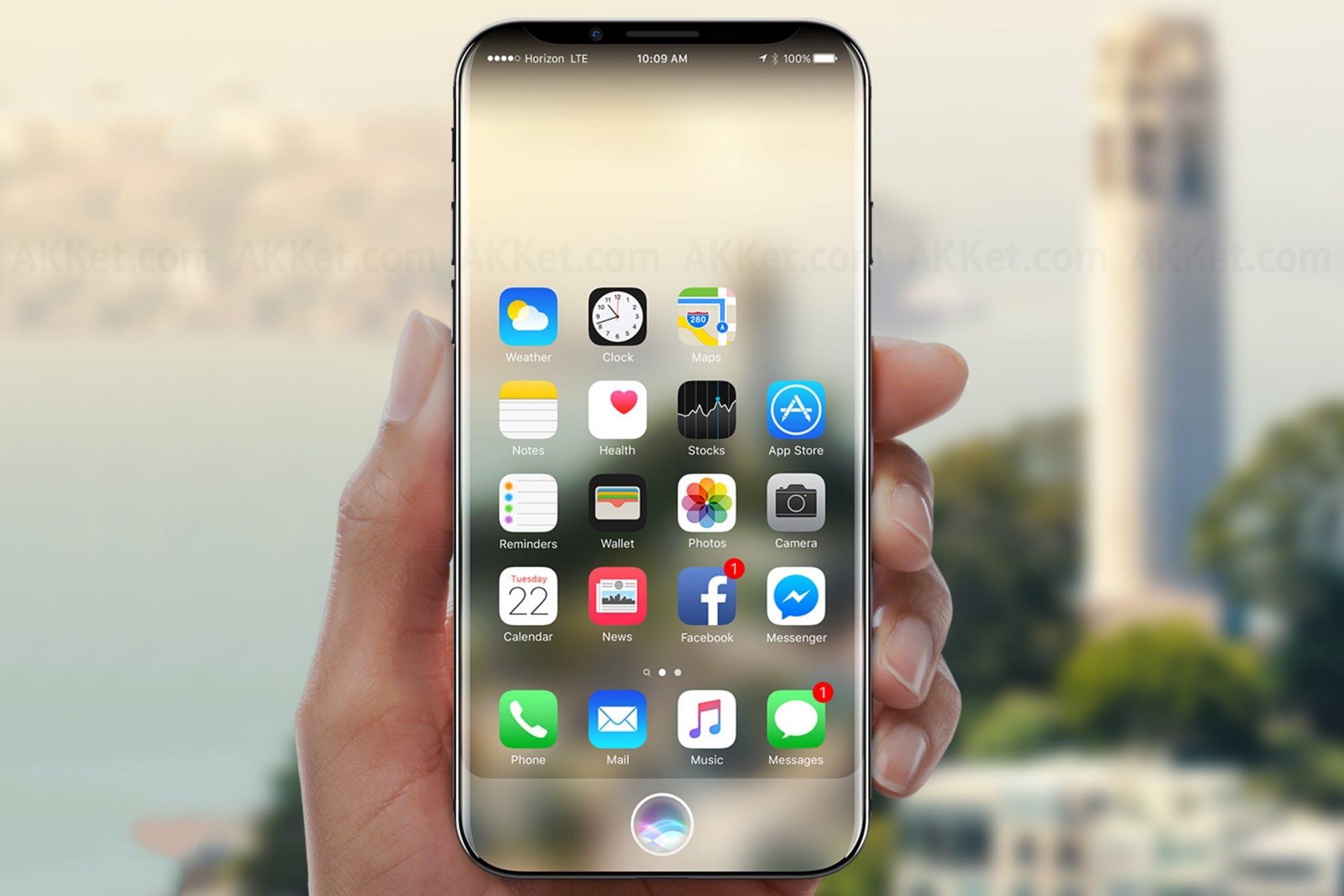 Предположительный дизайн iPhone 8 просочился всеть