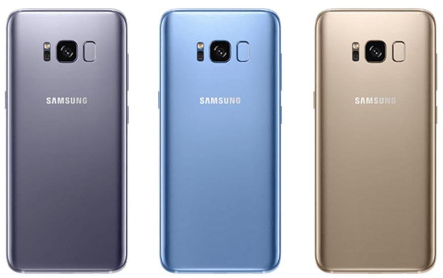 Samsung Galaxy S8 и S8+ появятся в трех новых цветах