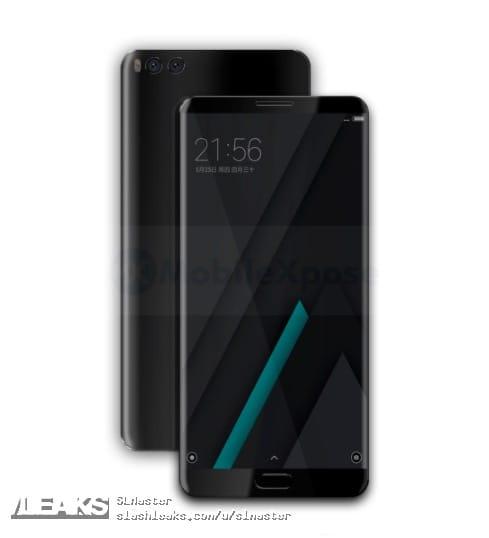 Xiaomi MiNote 3 сдвойной камерой показался нарендере