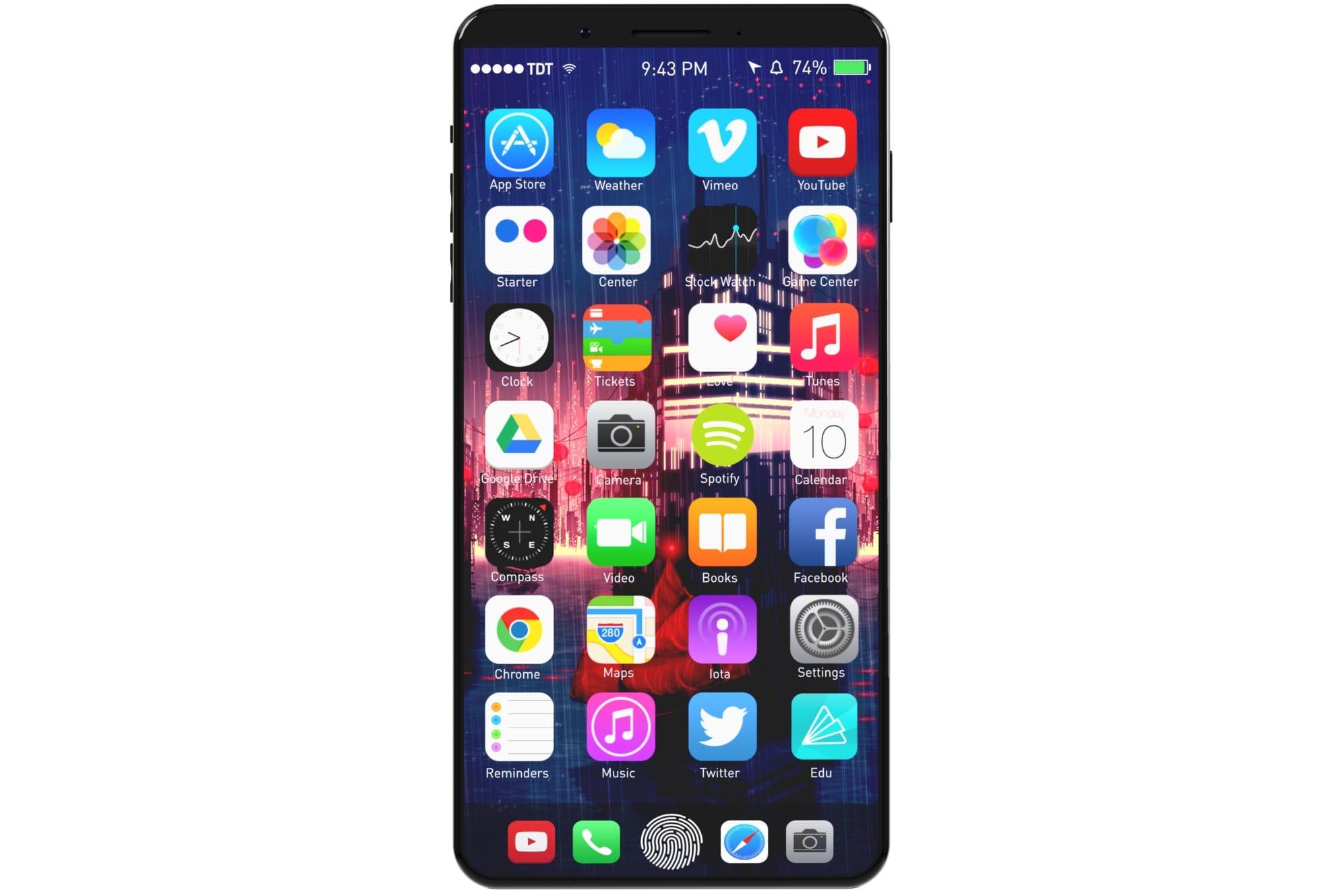 Производителем аксессуаров для Apple рассекречен дизайн iPhone 8