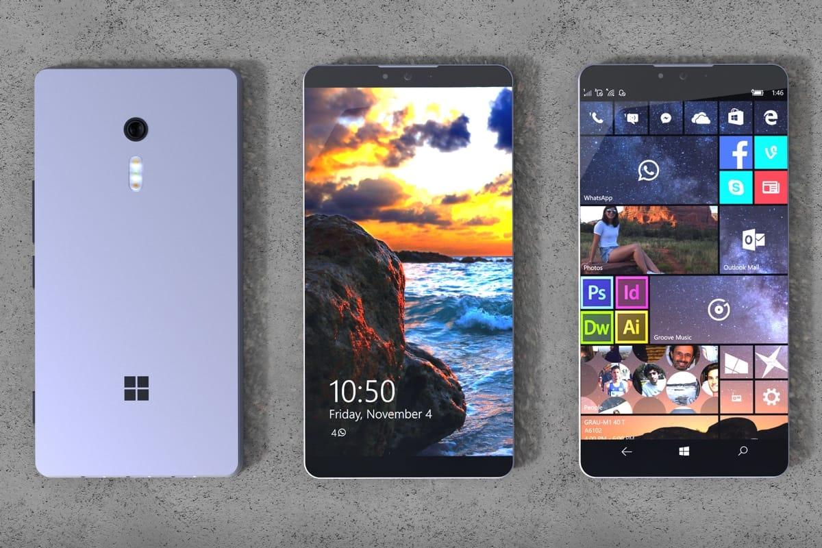 Microsoft представила складной безрамочный смартфон Surface Phone