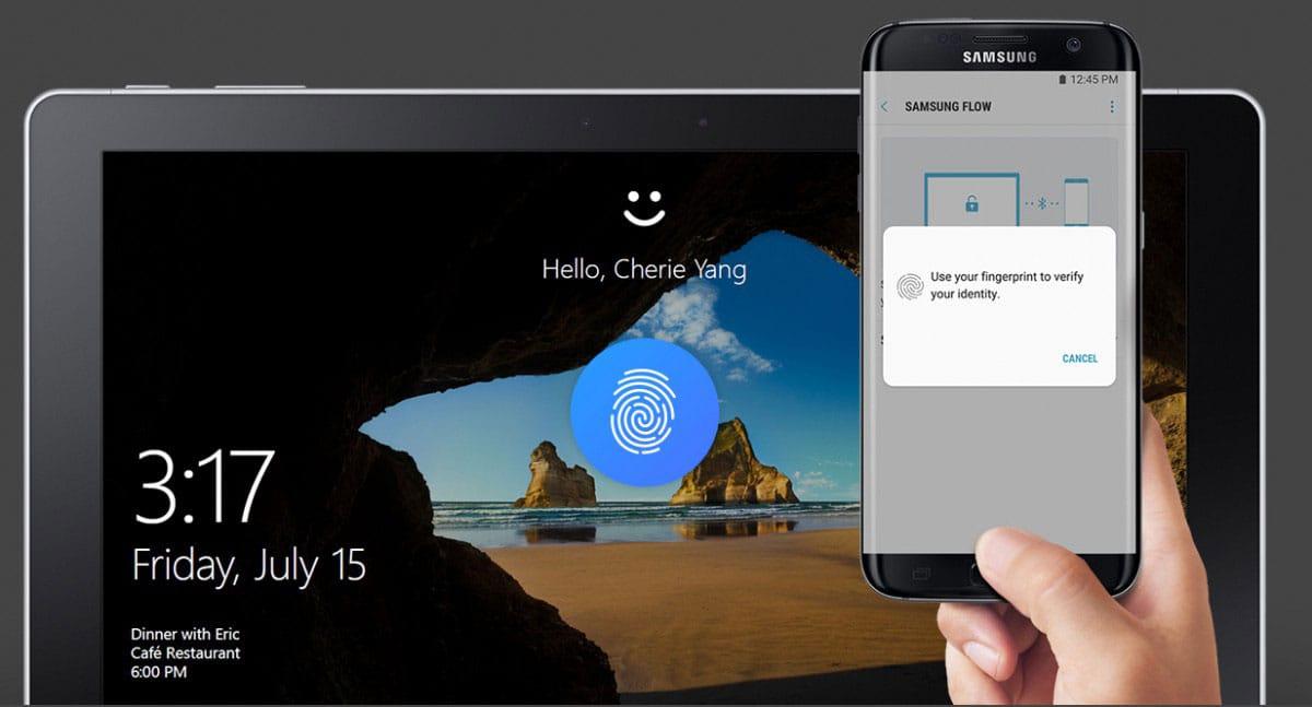 Владельцы телефонов Самсунг  могут разблокировать компьютер при помощи  сканера отпечатков