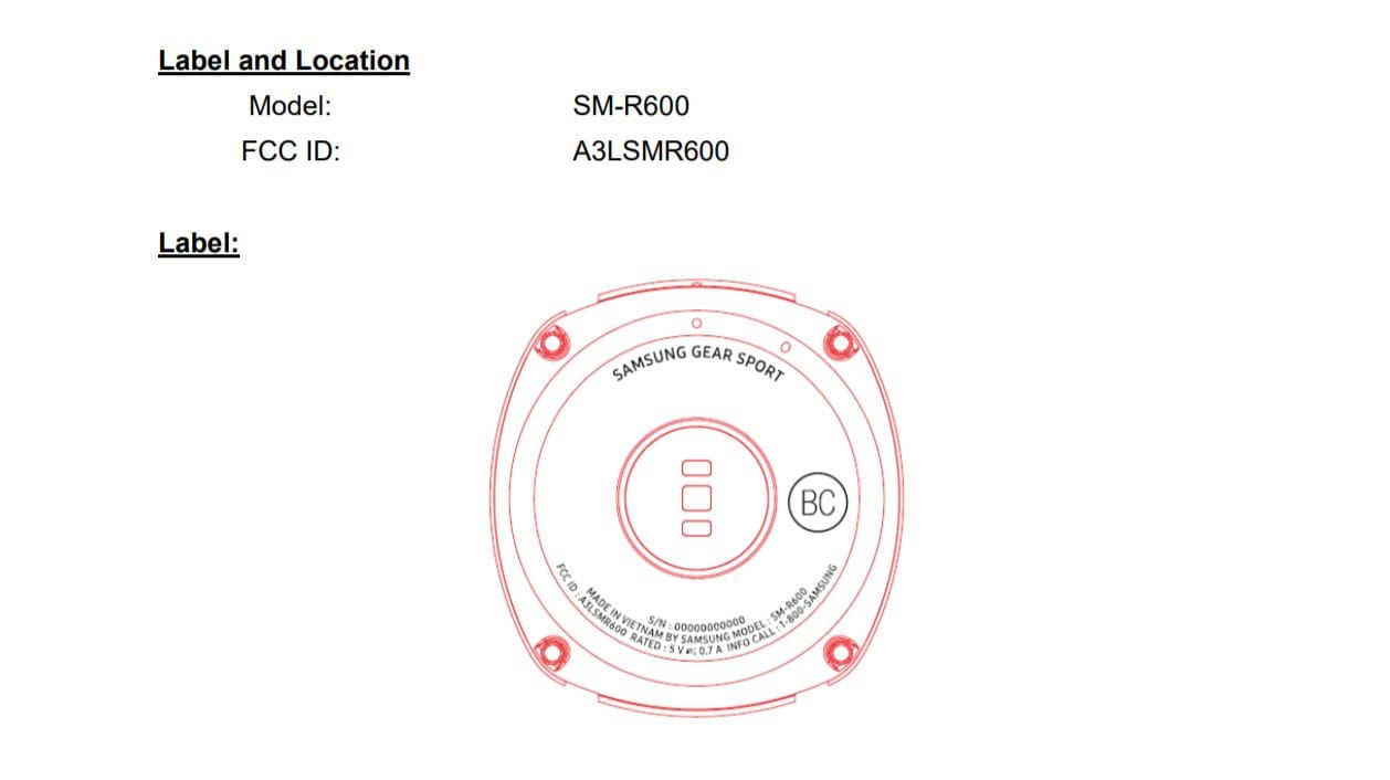 Новое носимое устройство от Самсунг  получит название Gear Sport