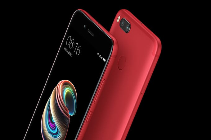 Xiaomi презентовала новый смартфон Mi5X вкрасном корпусе