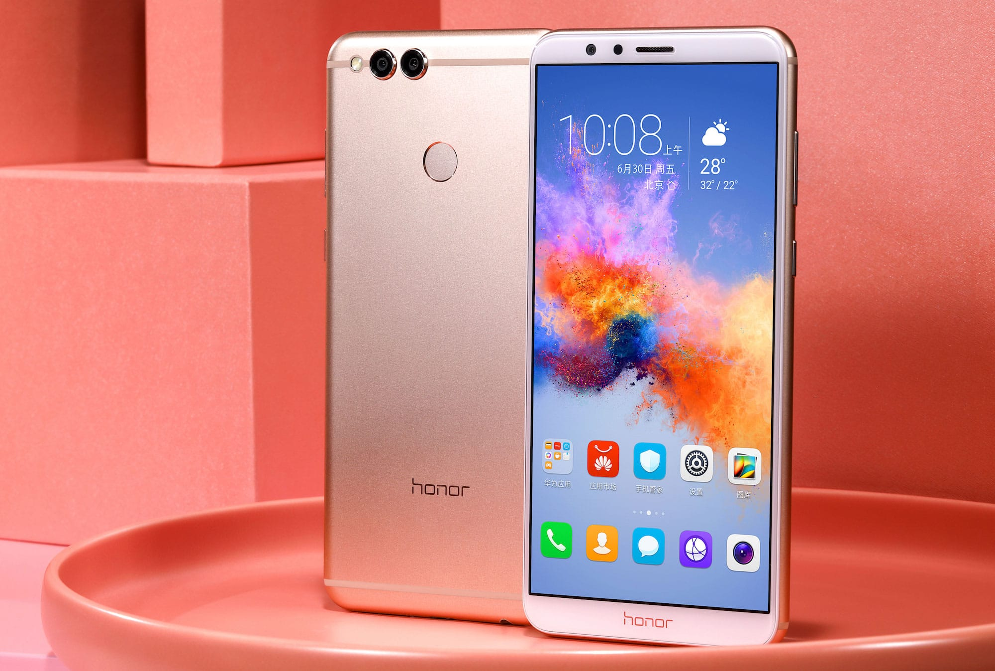 Компания Huawei представила новый безрамочный флагман Honor V10