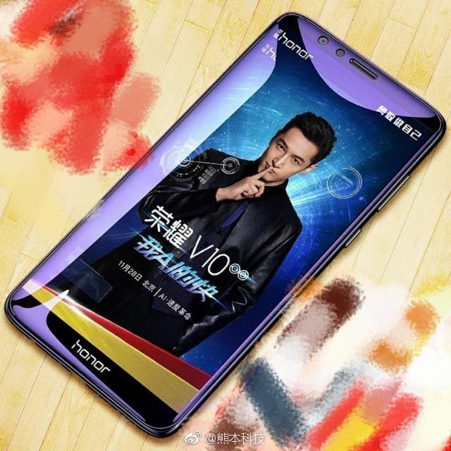 Представлен безрамочный флагманский смартфон Huawei Honor V10