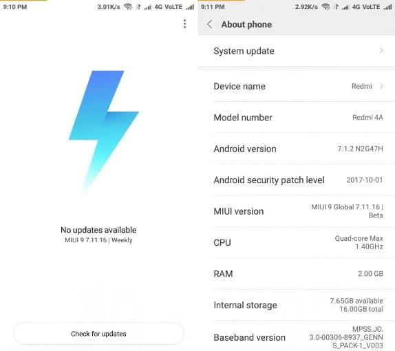 Xiaomi назвала мобильные телефоны, для которых MIUI 9 будет заключительным обновлением