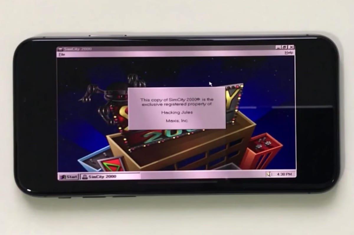 На телефоне iPhone Xзапустили Windows 95