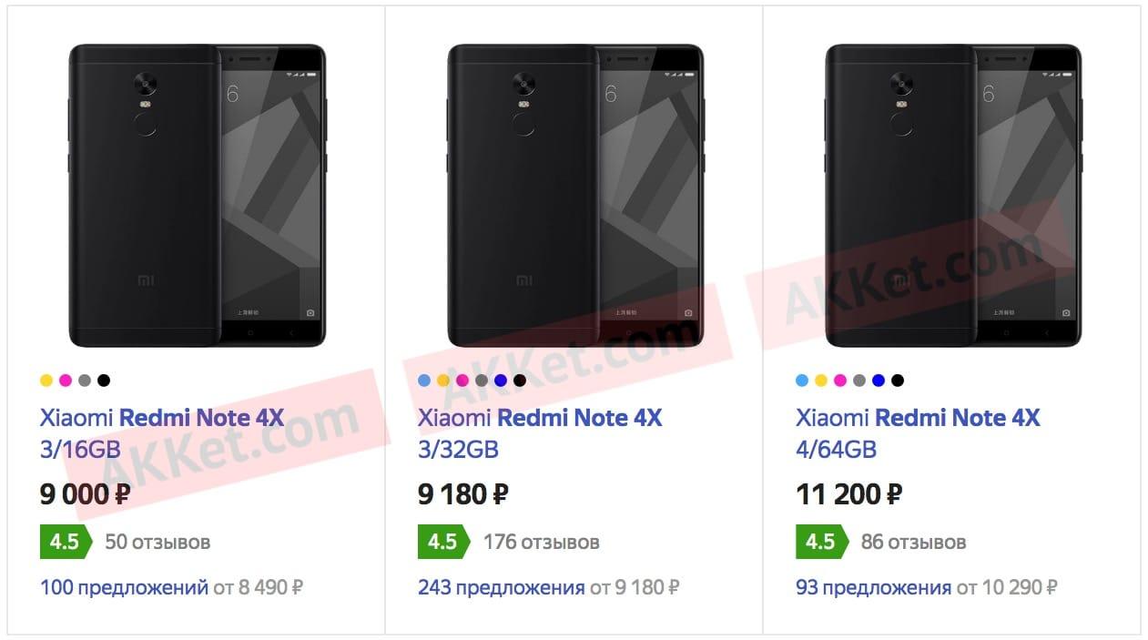 Цена насмартфон Xiaomi Redmi 4X стала еще неменее доступной вРосии
