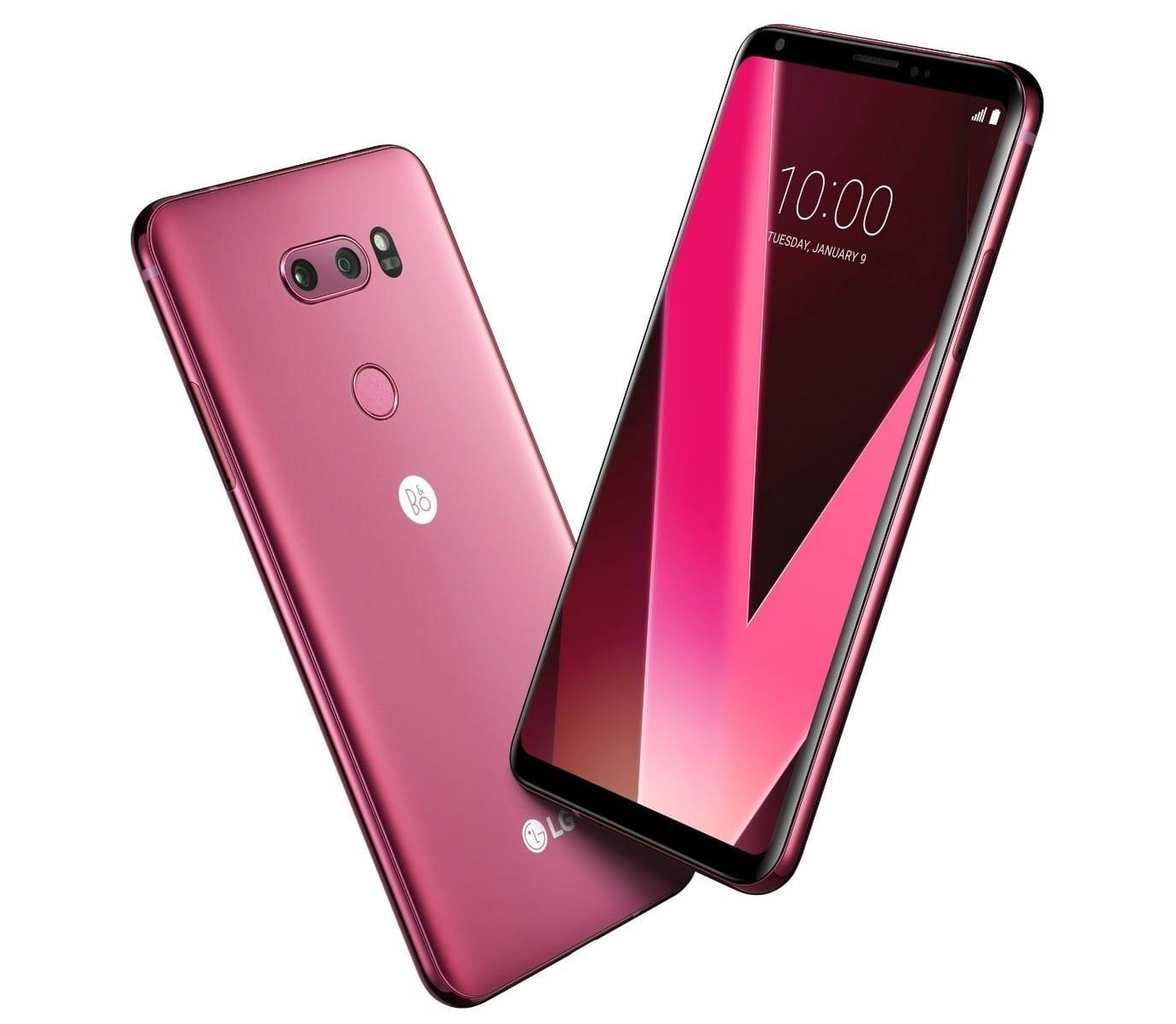 Представлен розово-малиновыйLG V30