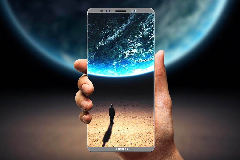 Самсунг Galaxy Note 9 получит сканер отпечатка пальца интегрированный в дисплей