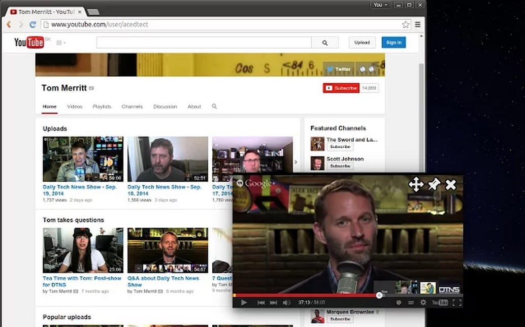 YouTube тестирует режим «Картинка вкартинке» для десктопной версии сервиса