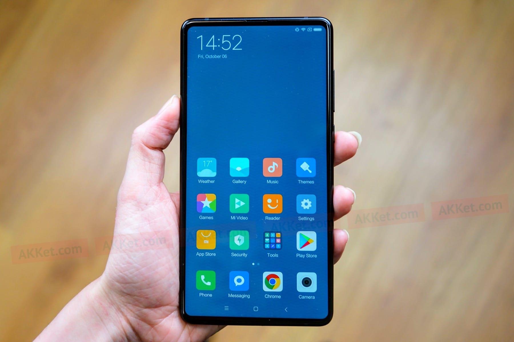 Xiaomi MiMix 2S снабдят сканером отпечатков под стеклом монитора
