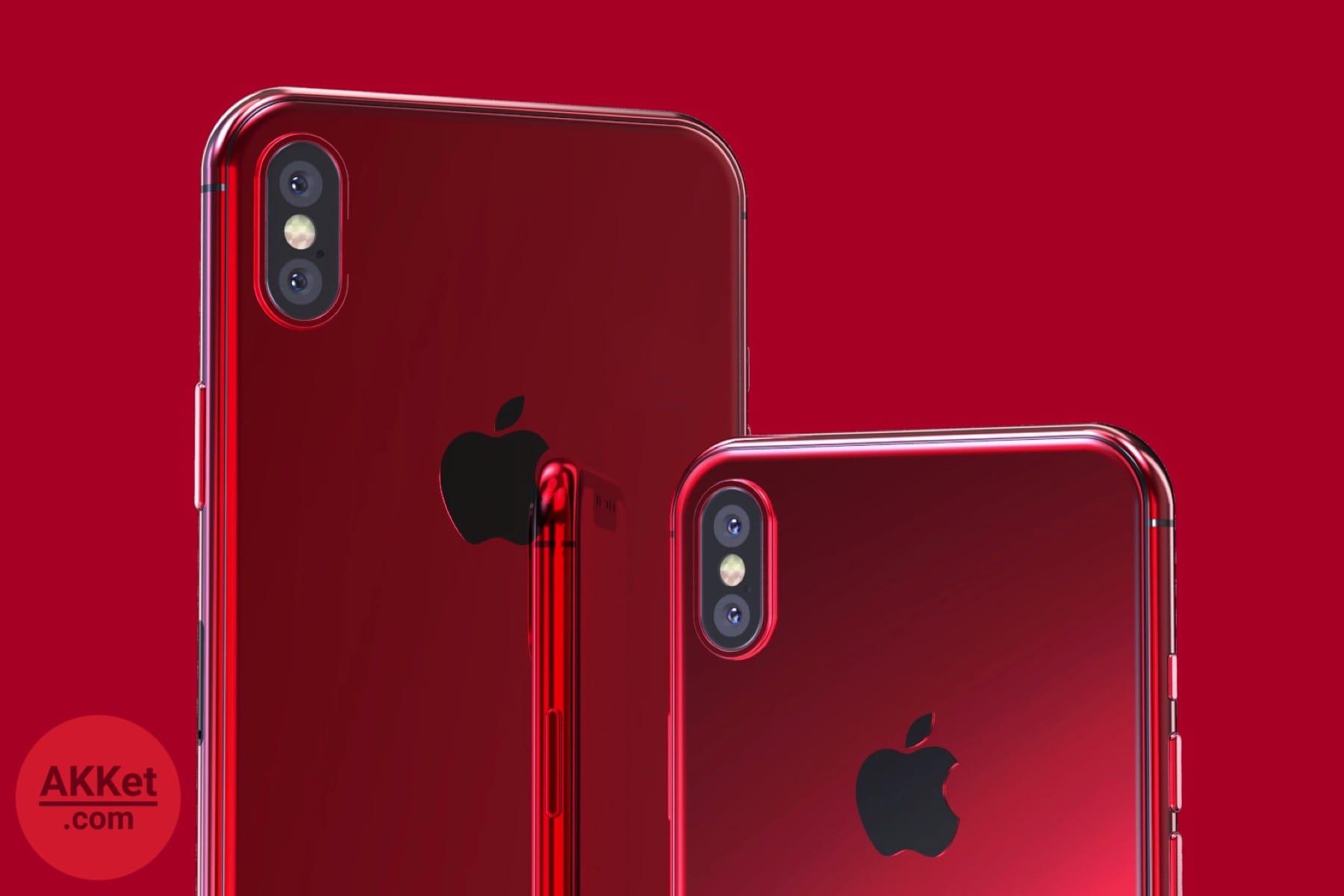 Красный iPhone X на видео и изображениях от AKKet.com