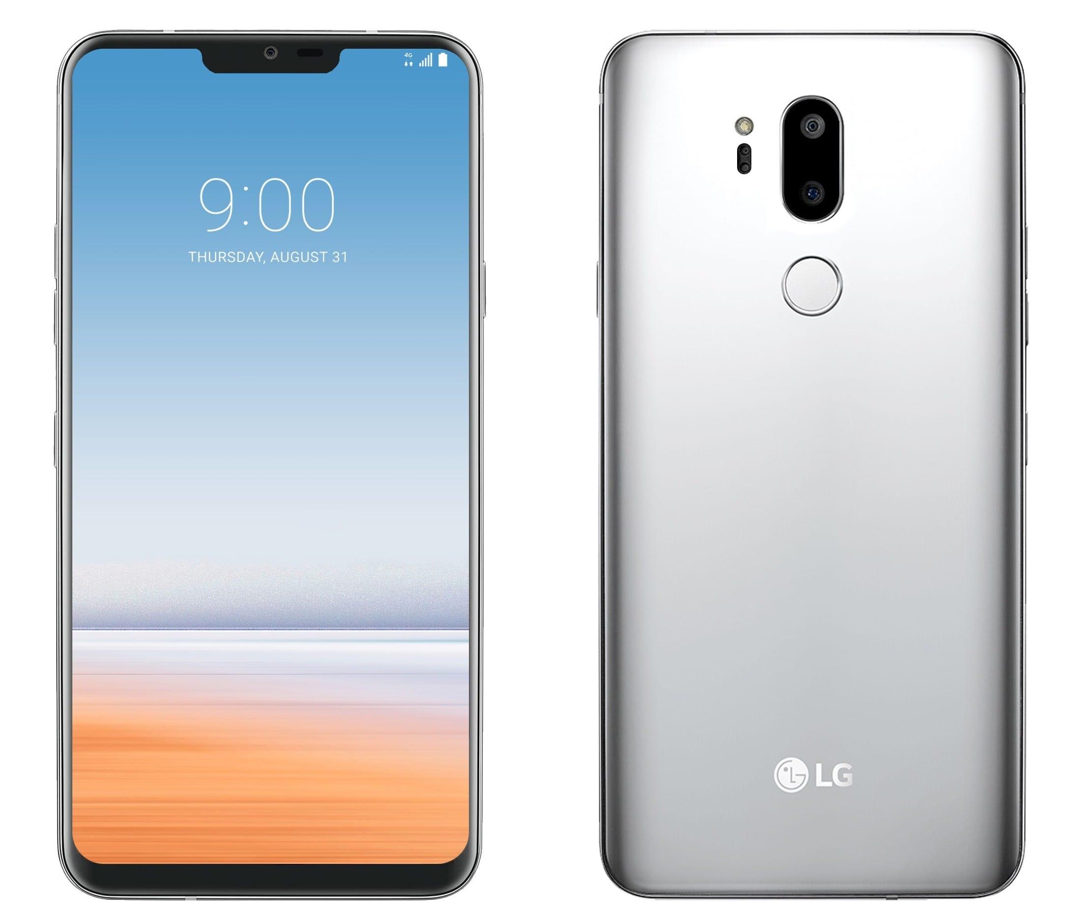 LG G7 ThinQ в работающем состоянии на фотографиях