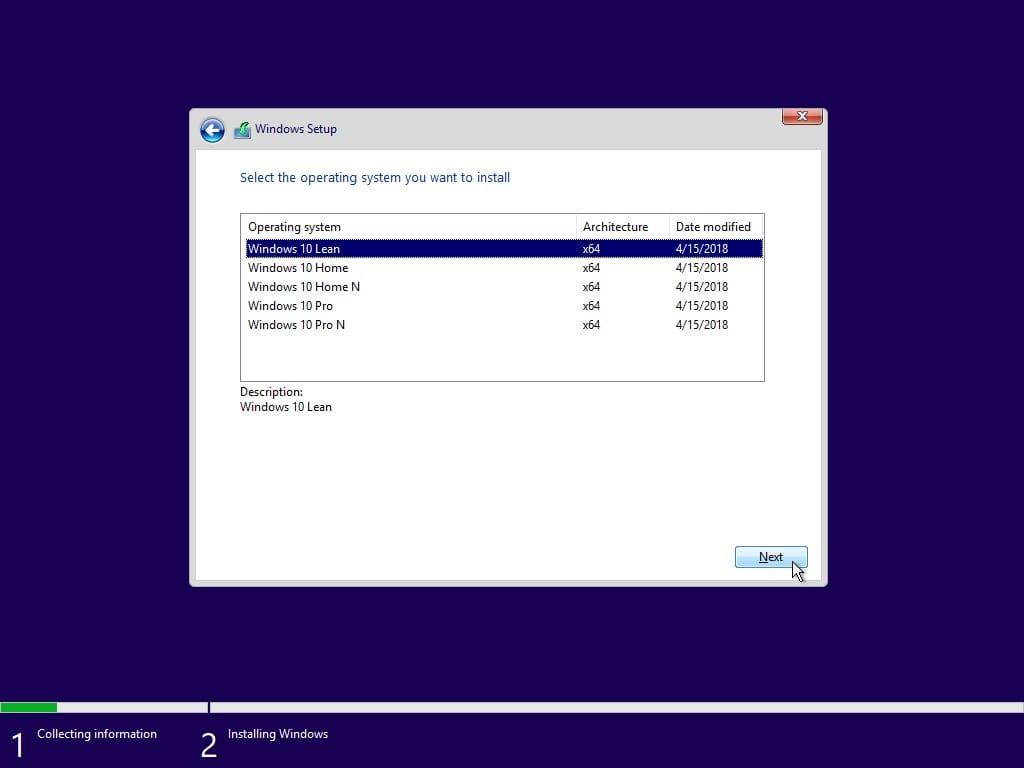 Microsoft выпустит версию Lean версии для Windows 10