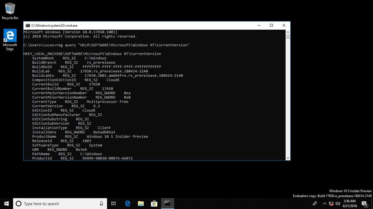 Microsoft презентовала облегченнуюОС Windows 10 Lean