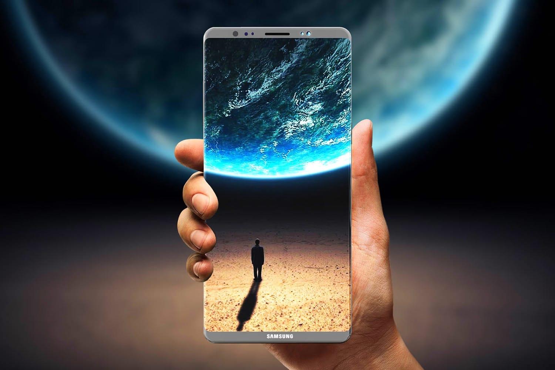 Самсунг Galaxy Note 9 снабдят 6,4-дюймовым дисплеем