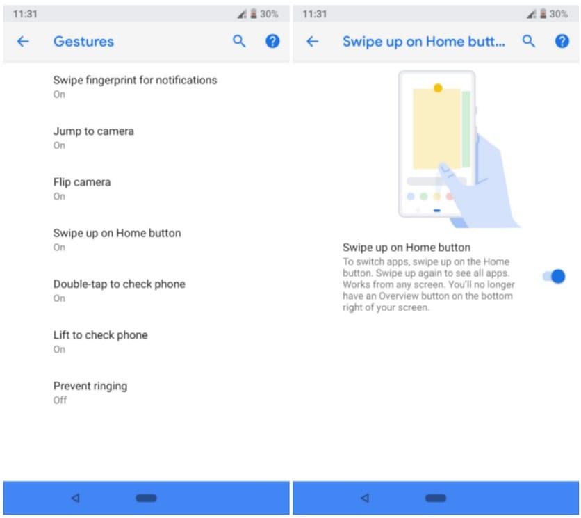 Google прибавила вновый андроид поддержку управления спомощью жестов