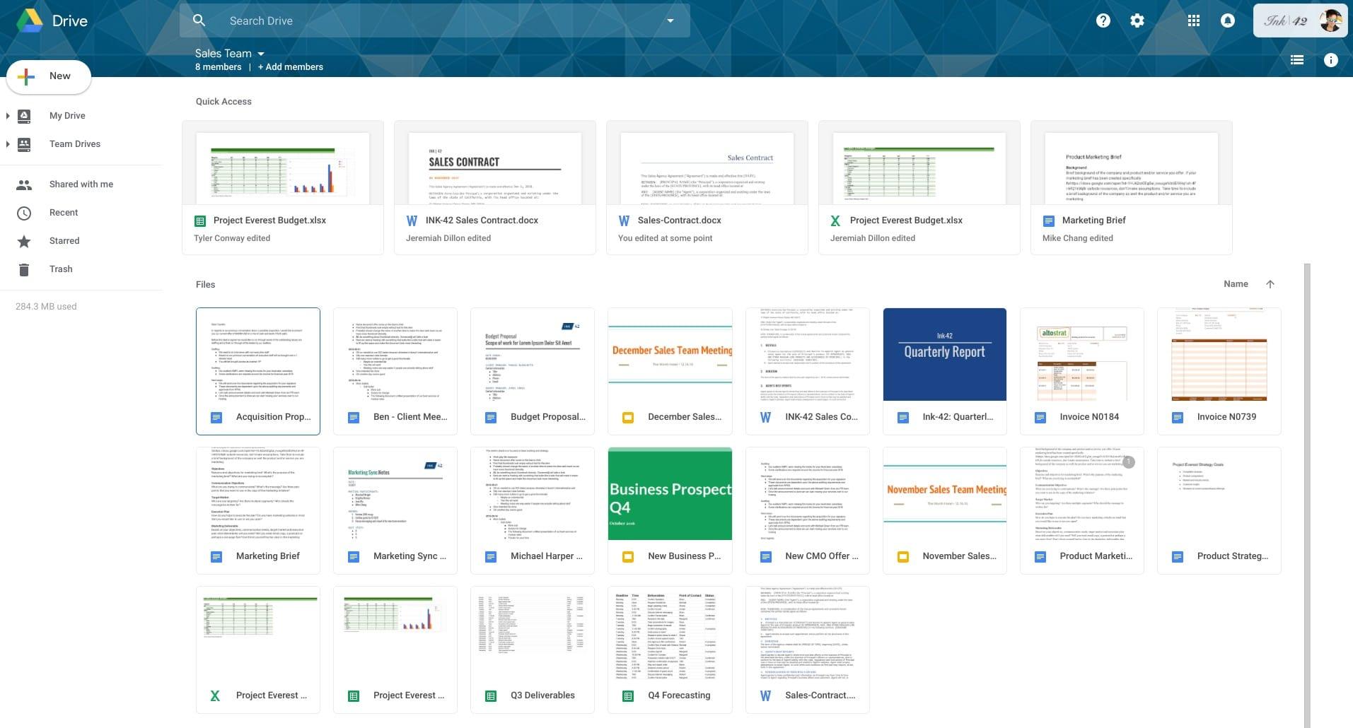 Новый дизайн Google Drive совпадает собновленным Gmail