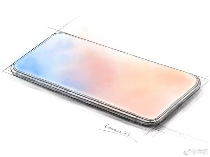 Эскизы Lenovo Z5 демонстрируют телефон согромным экраном
