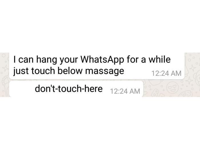 ВWhatsApp появилось сообщение, откоторого зависает смартфон