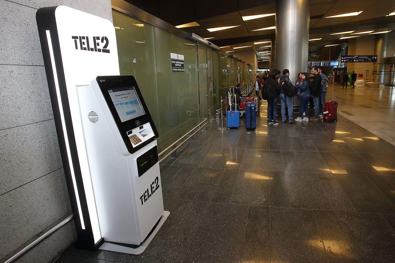 Tele2 поставила во«Внуково» 1-ый симкомат