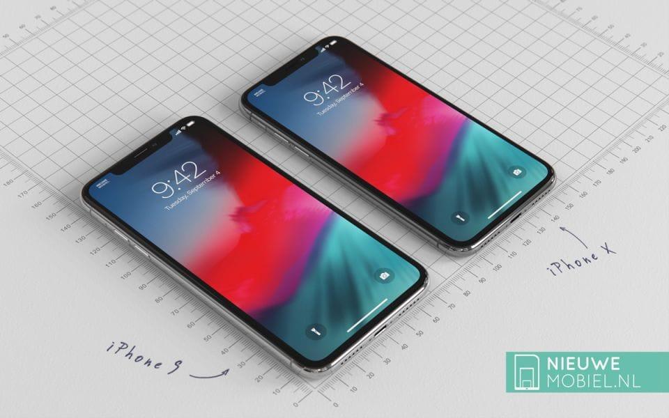 «6,1» iPhone рядом сiPhone Xнаконцептуальном рендере