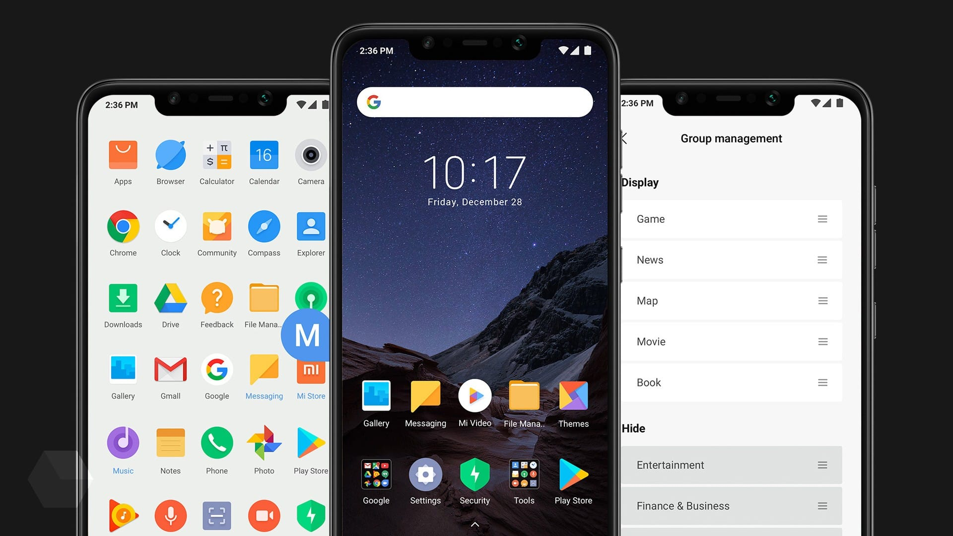 4c426bf44318 Графическая оболочка от смартфона Pocophone F1 представляет из себя  измененную в сторону обычного Android прошивку MIUI. Она слегка отличается  внешним видом ...