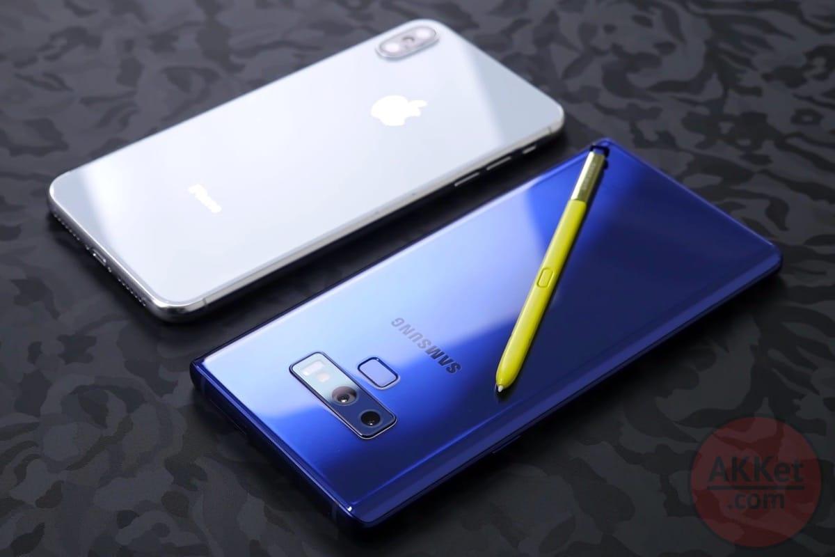 Samsung расхваливает Galaxy Note9 в Twitter со смартфона iPhone